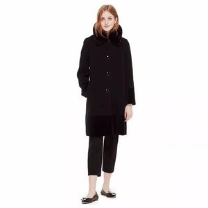NWT Kate Spade Faux Fur Trim Coat